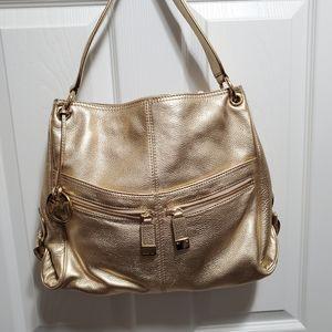 NWT Gold Michael Kors handbag